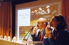 Salvador Casals és president de la Federació d'Ateneus de Catalunya; Íngrid Marín és coordinadora de la XTAC.