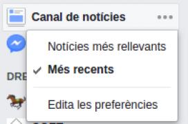 Per defecte, Facebook mostra els continguts amb aquest algoritme, però els usuaris poden canviar i visualitzar les