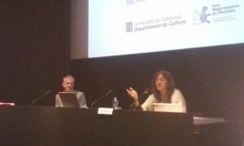 Gemma Sandra durant la seva intervenció a la Jornada sobre cofinançaments culturals. Font: Suport Associatiu