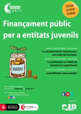 Cartell Cicle de finançament públic per a entitats juvenils