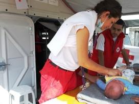 Activitat de la Creu Roja als camps de persones refugiades. Font: Creu Roja