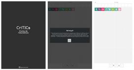 Algunes pantalles de l'aplicació CrítTICs, desenvolupada per Enginyeria Sense Fronteres.