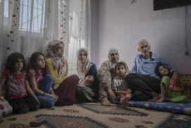 Família kurda desplaçada per la repressió de les autoritats turques. Font: Guy Martin/Panos