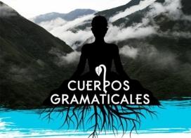 """Imatge gràfica de l'acció artística """"Cuerpos gramaticales""""."""
