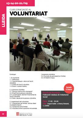 Curs d'iniciació al Voluntariat a Lleida