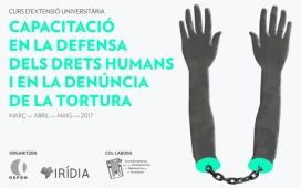 El cartell del programa. Font: Curs Prevenció Tortura