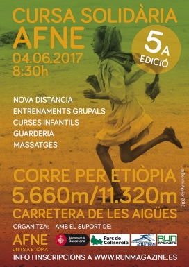 Cartell de la cursa d'Esplugues. Font: AFNE