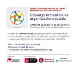 Taller 'Lideratge femení en les organitzacions socials'