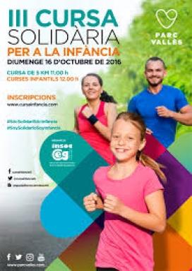 Cartell Cursa Solidària per a la infància. Font: Cursainfancia.com