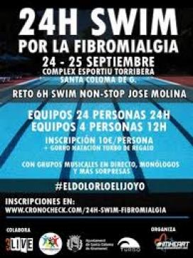 Cartell 24 h. swim per la fibromiàlgia. Font: Cronocheck