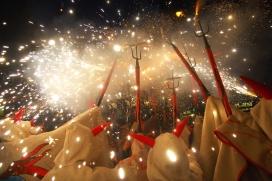 Els Diables de Vilafranca del Penedès en un dels actes festius que organitza