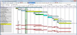 Amb Gantt Project podreu gestionar un projecte mitjançant diagrames de Gantt