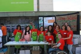 Grup de voluntariat de PAS i PDI de l'edició del curs 2014-15 (Font: FAS)