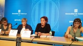 Hungria Panadero, de la Fundació Ferrer i Guàrdia, a la taula sobre els reptes del teixit associatiu que es va organitzar a mitjans de setembre
