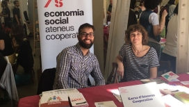 Imatge d'un dels expositors de la sisena edició de la Fira d'Economia Solidària de Catalunya