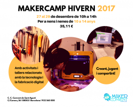 Cartell del MakerCamp Hivern