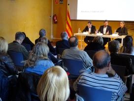 La presentació de l'avantprojecte a les entitats socials va tenir lloc el dilluns 3 d'abril. Font: Taula del Tercer Sector