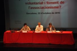 Eva Ribera, Víctor García i Marc Viñas, a la Jornada sobre la Llei del voluntariat. Font: Suport Associatiu