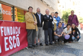 Equip tècnic i voluntariat de la Fundació Escó.