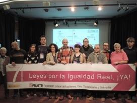 Membres de la FELGTB, col·lectiu que reivindica l'aprovació d'una llei integral d'igualtat