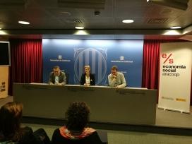 Acte de signatura de l'acord entre La Confederació,  DDIPAS i la Generalitat de Catalunya per promoure el programa de foment de l'equitat de gènere en el Tercer Sector Social.