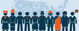 Il·lustració de persones de diferents religions