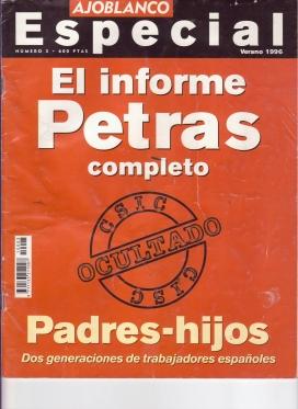 Portada de l'edició especial de la revista Ajoblanco: L'Informe Petras