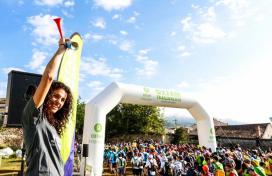 L'Elena, responsable de l'Oxfam Intermón Trailwalker