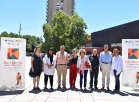 Els representants de les entitats organitzadores de la Setmana commemorativa del Dia Mundial de la Salut Mental 2017
