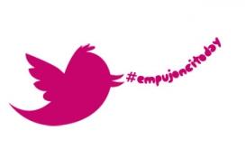 Ocell de Twitter amb el hashtag #EmpujoncitoDay