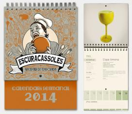 Escuracassoles, receptari-calendari 2014