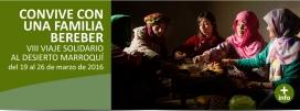 Cartell per l'experiència amb la família berber. Font: Viento Norte Sur