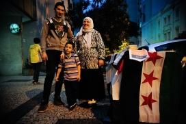 Família siriana de refugiats. Font: Wikimedia