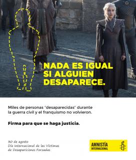 La campanya mostra com canvia una sèrie si algun personatge hi falta
