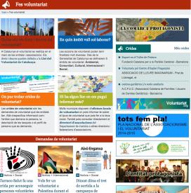 Xarxanet.org disposa d'un espai especial dins el seu web on es poden trobar publicacions de notícies relacionades amb ofertes de voluntariat (Font: xarxanet.org)