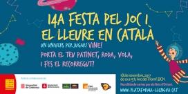Cartell de la 14a Festa del Joc i el lleure en català