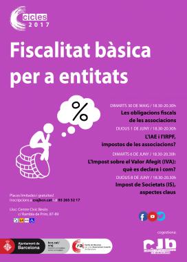 Cartell Cicle de fiscalitat bàsica per a entitats
