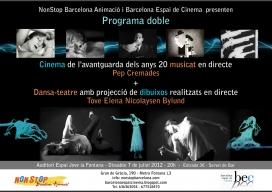 Cartell Sessió doble Cinema i Dansa