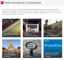 El portal #FonsUECat aplega les diverses convocatòries de finançament europees.