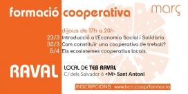 Formació cooperativa al Raval. Font: Twitter de Coòpolis
