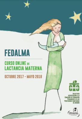 Portada del folletó sobre el curs de lactància materna 2017-2018 de Fedalma