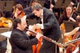 Jordi Molina, tenora solista durant el 'Concert Catalanesc' de Salvador Brotons