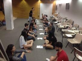 Dinàmica en una formació del voluntariat. Font: COCAT