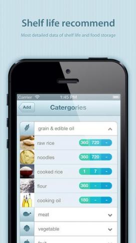 Freshbox us avisa de la vida útil de cada aliment.