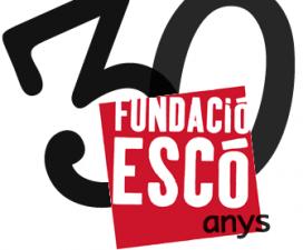 Logotip dels 30 anys de la Fundació Escó.