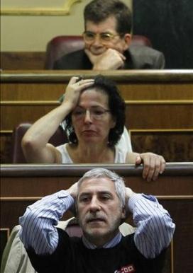 Reacció de Gaspar Llamazares a l'anunci de les mesures, imatge d'Andrés Kudacki.