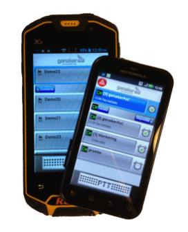 Genaker Cloud PTT pot utilitzar-se amb qualsevol smartphone