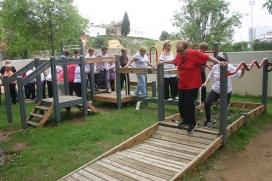 Gent gran fent esport. Font: Ajuntament d'Esplugues de Llobregat (Flickr)