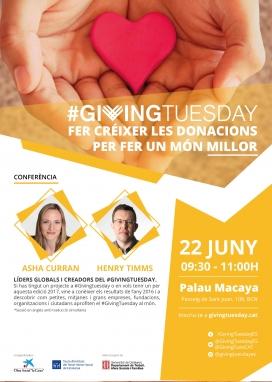 Cartell conferència 'Fer créixer les donacions per fer un món millor'