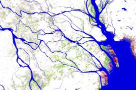 L'eina combina més de 3 milions d'imatges captades pels satèl·lits durant 30 anys (imatge: global-surface-water.appspot.com)